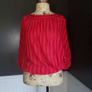 Vintage 1970s red striped top from Lasalle's!